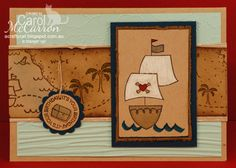 =A Crafty Cat; Stampin' Up! Ahoy matey, pirate collection x carol McCarron