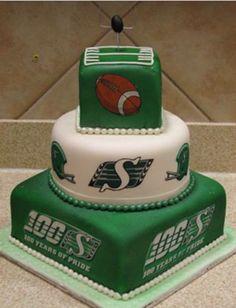 Saskatchewan roughriders grey cup cake