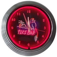 Neonetics Tiki Bar Neon Clock