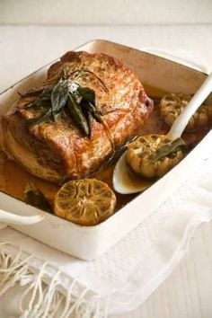 Sage and Garlic Roasted Pork Loin: Great recipes and more at http://www.sweetpaulmag.com !! @Sweet Paul Magazine