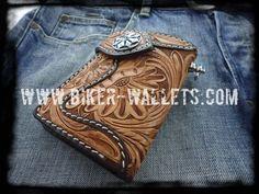 """Western Rider"" Pip Squeek 6"" Leather Men's Biker Wallet"