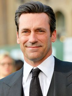 "Jon Hamm | So how did she get that ""beautiful-looking skin"" in the 30 minutes of prep time with Hamm? She first primed his skin with ReVive moisturizer (and the line's undereye cream to prevent any bags), which she likes for her male clients because ""they are generally turned off from any products that have a strong 'perfumey' scent."""