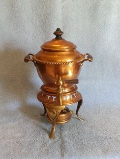 Samovar  Jos. Heinrich  Copperware  Tea Pot  by SashasCollectibles