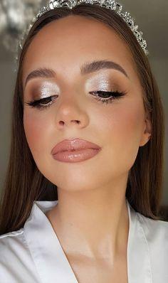 Wedding Eye Makeup, Prom Makeup, Wedding Hair And Makeup, Gold Makeup Looks, Wedding Makeup Looks, Formal Makeup, Bridesmaid Makeup, Day Makeup, Makeup Ideas