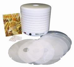 Features:  Product Type: -Food dehydrator.  Shape: -Circle.  Finish: -White.  Number of Items Included: -26.  Trays Included: -Yes.  Wattage: -1000 Watts.  Dehydrator Fan Location: -Bottom mount.  Exp