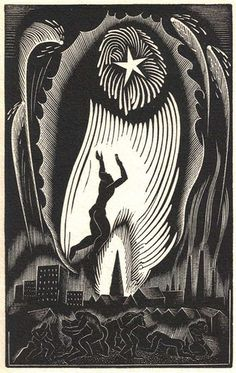 All sizes | Blair Hughes-Stanton, wood engraving for Alone by Walter de la Mare | Flickr - Photo Sharing!