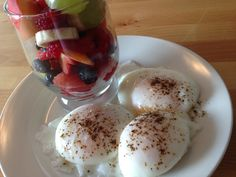 Poached Eggs & Fruit Salad