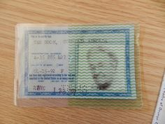 Corrie's green card - Wheaton College - Billy Graham Archive Center