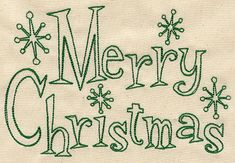 Fifties Merry Christmas   Merry Christmas   Urban Threads: Unique and Awesome Embroidery Designs