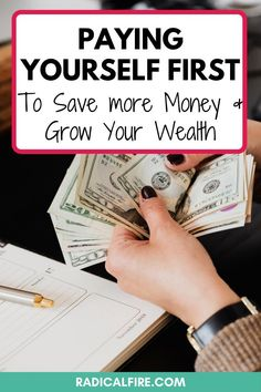 Do you want to stop living paycheck to paycheck? Pay yourself first! Save money for your future self, including the best money tips and financial advice. Find the exact steps to build wealth and manage your money! #savemoney #payyourselffirst #personalfinance #financialfreedom Wealth Management, Money Management, Budgeting Finances, Budgeting Tips, Pay Yourself First, Setting Up A Budget, Dividend Investing, Loan Consolidation, Creating Wealth