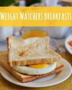 Pinner said: 50 Weight Watchers Breakfast Recipes - there are some yummy sounding recipes in here! I say: Yeah, that single egg on dry toast may not be the best photo to post to  convince me to click through. :) But I will give WW MAJOR props - you do have some great recipes!