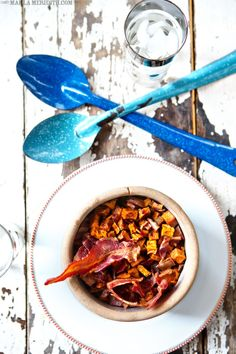 Maple Roasted Sweet Potatoes with Bacon | FamilyFreshCooking