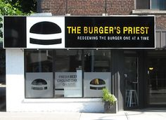 Burger Priest - Toronto, Ontario locations, Queen and Yonge) City Magazine, Priest, Places To Eat, Where To Go, Toronto, The Neighbourhood, The 100, My Favorite Things, The Originals