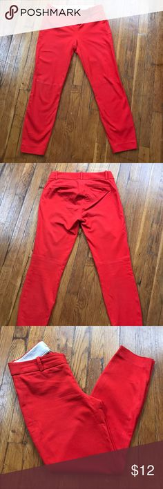 J.Crew Mini Red Pants I'm good condition Red Pants. 25 inches inseam j.crew Pants Ankle & Cropped