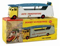 DINKY#989 AEC car transporter