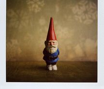 A gnome, pondering
