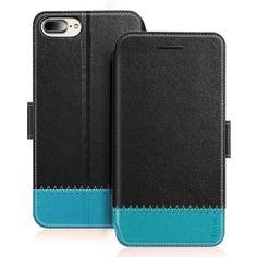 Benuo Coque pour iPhone 8 PLUS en Cuir Premium avec Pochette Coque  Portefeuille iPhone 8 PLUS avec Rabat Magnétique Etui iPhone 7 PLUS en Cuir  Prime avec ... d72497ddf6b6