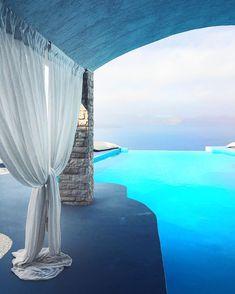 """ Missing this paradise #Santorini #Greece by @veronicaferraro"""