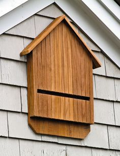 Bat House. Pretty and a good idea to have bats living in your area.  They eat tons of bugs!