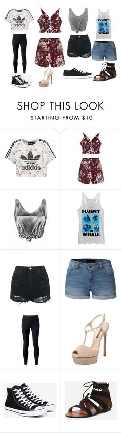 """""""Outfits"""" by haleypapa on Polyvore featuring adidas Originals, Fifth Sun, Topshop, LE3NO, Jockey, Casadei, Converse and Forever 21"""
