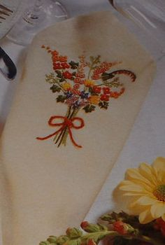 Floral Napkin ~ Embroidery Pattern