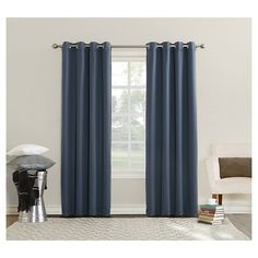 Enjoy the power of the Sun Zero Emden Triple Lined Room Darkening Grommet Curtain Panel to transform your room. This triple-lined single curtain panel. Rod Pocket Curtains, Lined Curtains, Grommet Curtains, Blackout Curtains, Window Curtains, Room Darkening, Window Panels, Room Lights, Home Decor Outlet