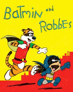 Batman and Robin In The Style Of Calvin And Hobbes