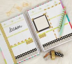Planner Decoration Ideas: March 2015 (Erin Condren Vertical) - The Chic Life Scrapbooking Journal, Planer Organisation, Black And Gold Theme, Black Gold, Planer Layout, Washi Tape Planner, Planner Decorating, Diy Decorating, Idee Diy