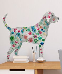 Another great find on #zulily! Flower Power Dog Wall Decal #zulilyfinds