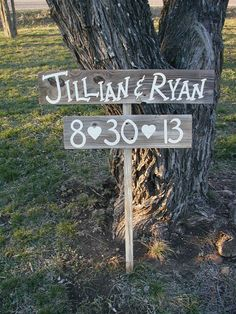 Hey, I found this really awesome Etsy listing at http://www.etsy.com/listing/79054095/personalized-wedding-sign-on-stake-barn