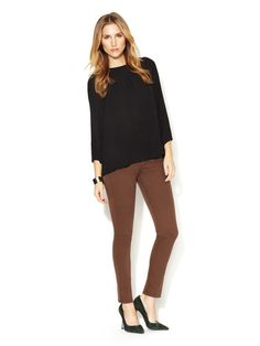 James Jeans Twiggy Legging Jean. In love with brown jeans for fall!