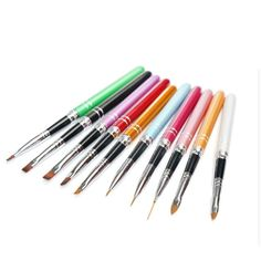 AMA(TM) 10pcs Nail Art Painting Pen Phototherapy Drawing Pen Crystal Carving Pen Nail Art Lining Pen Manicure Tool (Multicolor) ** This is an Amazon Affiliate link. Check this awesome product by going to the link at the image.