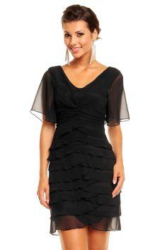 Večerní šaty s volány Black, Dresses, Fashion, Vestidos, Moda, Black People, Fashion Styles, The Dress, Fasion