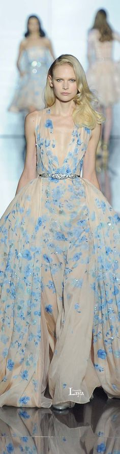 Brides Something Blue - Zuhair Murad Spring 2015 Couture