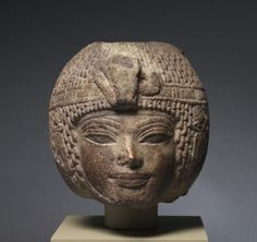 Head of Amenhotep III Wearing the Round Wig, c. 1391-1353 BC                                                Egypt, New Kingdom, Dynasty 18, reign of Amenhotep III, 1391-1353 BC