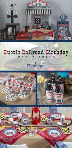 All aboard for a fun train-themed birthday party! Our new Rustic Railroad birthday party theme is perfect for celebrating your birthday engineer! Browse the entire collection for personalized favors, tablewares, and fun train cutouts! Thomas Birthday, Trains Birthday Party, 4th Birthday Parties, Birthday Fun, Birthday Ideas, Third Birthday, Frozen Birthday, Personalized Favors, Invitation