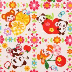kawaii Cosmo animal oxford fabric panda rabbit cat fruit Japan