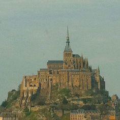 "@dimval's photo: ""Mirage •••• | #montsaintmichel #france #bassenormandie #normandie #sky #abbaye #abbey #mirage #fortress"""