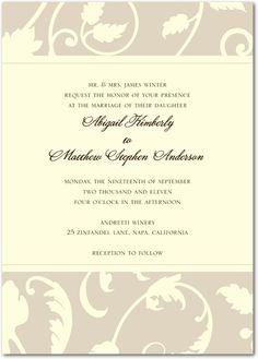 Wine Wedding Invitations
