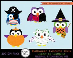 Halloween Costume Owls by CraftBliss. Visit www.craftbliss.com for freebies and craft fun. #craftbliss