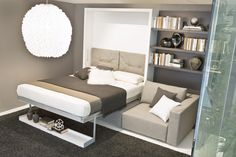 SWING sofa wall bed by night