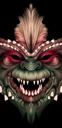 Gremlins by Patrick Seymour, via Behance Oi. This brings back some childhood memories! Zombie Drawings, Art Drawings, Drawing Art, Gremlins, Patrick Seymour, Pop Art Zombie, Art Graphique, Illustrations, Dark Art
