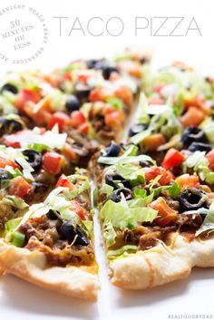 Taco Pizza from Real Food by Dad - This recipe combines two family favorites into one quick and easy meal.