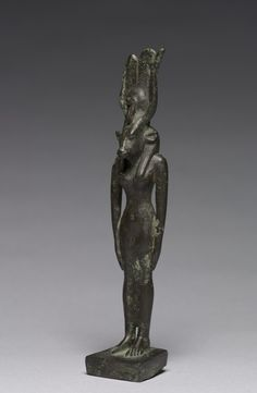 Bronze statuette of Goddess Hathor.Late Period,26-30 Dynasty c.a. 664-332 B.C.