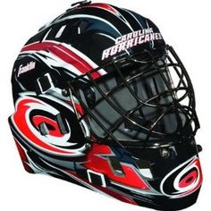 Franklin NHL Team SX Comp GFM 100 Youth Goalie Face Mask - Carolina Hurricanes, (mylec, goalie mask, goalie masks, hockey, hockey goalie gear, hockey goalie mask, mylec goalie mask, mylec ultra, street hockey mask)