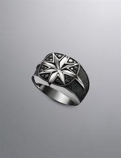 Men's Diamond & Sterling Silver Rings | Men's Jewelry | David Yurman http://sociwiz.net/HolstedJewelry