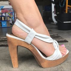 89dab23d0a3 Shop Women s Steve Madden White size Heels at a discounted price at Poshmark .