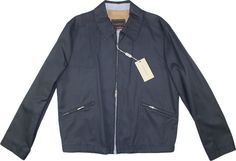 CANALI RAIN SYSTEM NAVY BLUE JACKET-MADE IN ITALY #CANALI #WATERRESISTANTJACKET