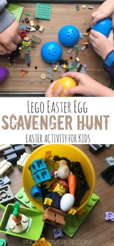 This Lego Easter Egg Scavenger Hunt is sure to surprise your children on Easter Morning! The Easter Bunny steps up his game when he fills Easter Eggs with Legos! Includes hunt ideas for one child, multiple children Easter Eggs, Easter Bunny, Happy Easter, Easter Activities For Kids, Motor Activities, Easter Games, Indoor Activities, Preschool Activities, Easter Traditions