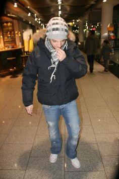 James Morrison - Duesseldorf - 17-01-2009 - James Morrison all'aeroporto di Düsseldorf